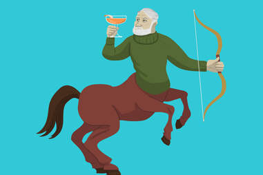 Sagittarius archer with a hemingway daiquiri cocktail