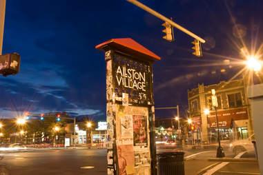 sign for allston village boston