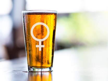 woman's beer