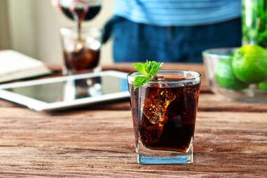 whiskey scotch coke