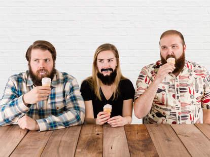 ice cream with a beard