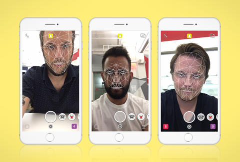 Image result for snapchat facial recognition