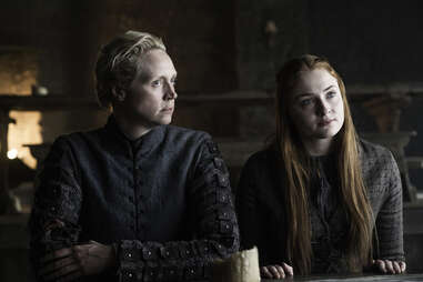 brienne and sansa on game of thrones