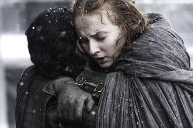 sansa hugs jon snow