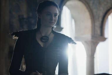 sansa black feather dress game of thrones