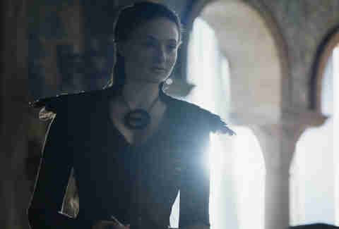 sansa black feather dress game of thrones