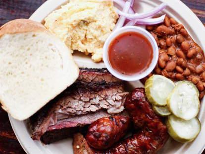 beef brisket barbecue sausage Texas bbq
