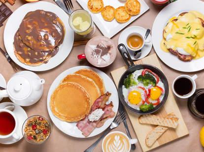 An incredibly bountiful breakfast