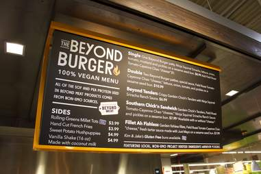 Beast Burger menu