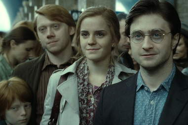 harry potter and the dealthy hallows epilogue daniel radcliffe, rupert grint, and emma watson