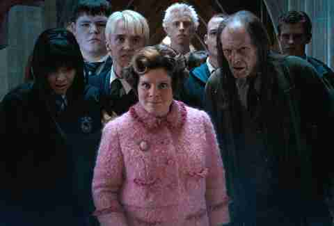 Harry Potter Dolores Umbridge and Draco Malfoy, Imelda Staunton and Tom Felton