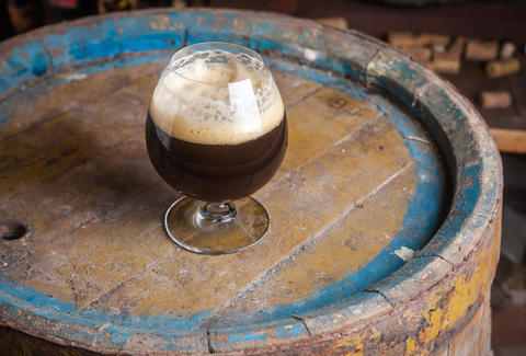 Barrel-aged strong ale