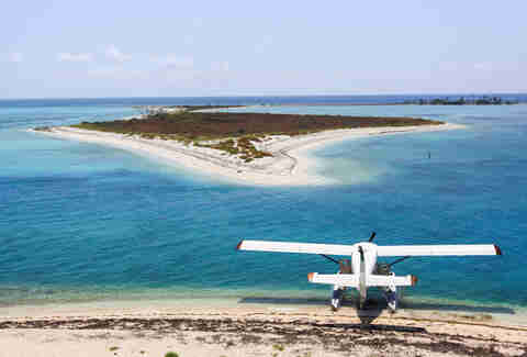 Dry Tortugas water plane