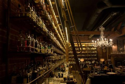 Multnomah Whiskey Library interior