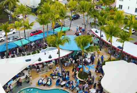 Patio in South Beach