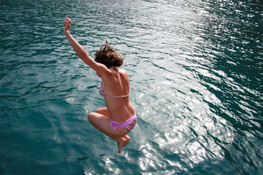Person diving