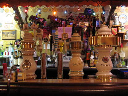 beer taps at Resi's Bierstube