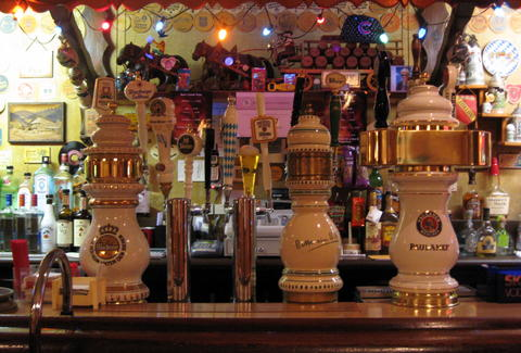 beer taps at Resi's Bierstube