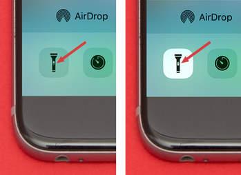 flashlight icon on iphone 6s