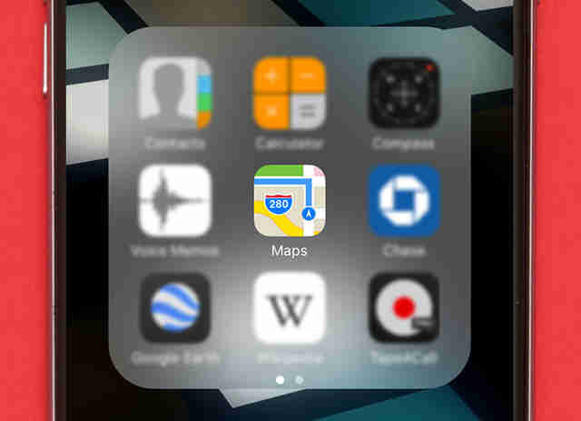 apple maps icon on iphone 6s