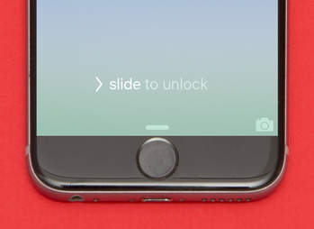 slide to unlock screen on iphone 6s