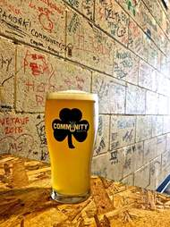 Community Beer glass