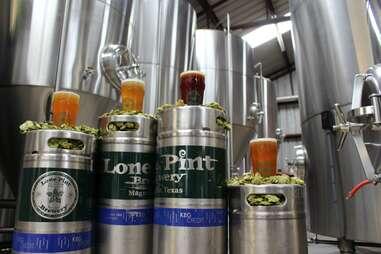 Lone Pint Brewery kegs