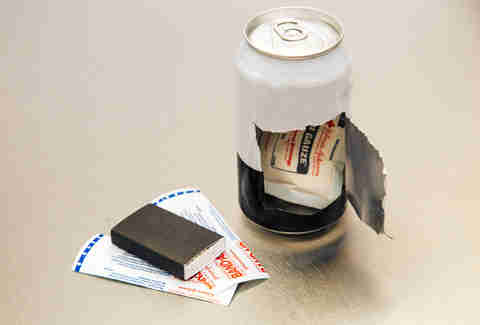 Beer can emergency kit