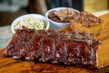 Ribs at Baby Blues BBQ in L.A.
