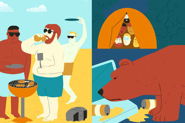 Grilling versus Camping
