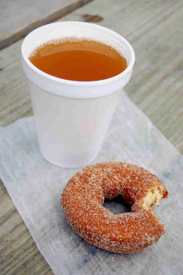 cider and donut