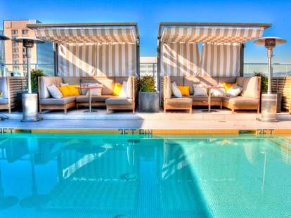 pool at The Roof on Wilshire