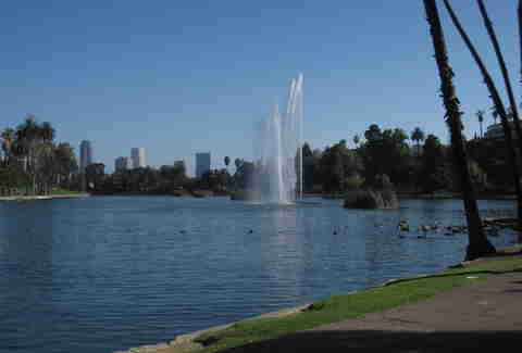 Echo Park Lake in L.A.