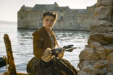Maisie Williams as Arya Stark in Bravos