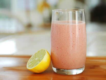 fruit smoothie with lemon