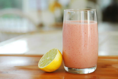 fruit smoothie with lemon