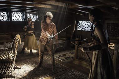 Keisha Castle-Hughes, Toby Sebastian, Jessica Henwick as Trystane Martell and the Sand Snakes