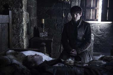 Iwan Rheon as Ramsay Bolton mourning the death of Myranda