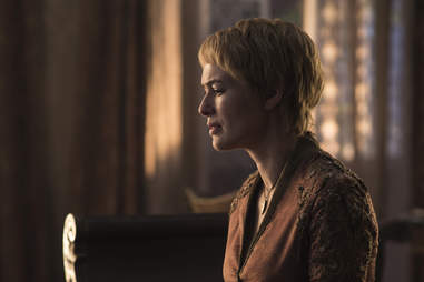 Lena Headey as Cersei Lannister mourning her dead daughter Myrcella Baratheon