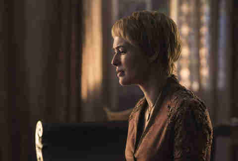 Lena Headey as Cersei Lannister mourning her dead daughter Myrcella Baratheon