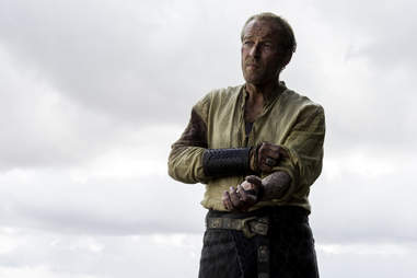 Jorah Mormont, played by Iain Glen, reveals his greyscale affliction