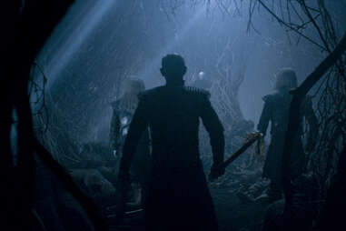 The White Walkers attack the Three-Eyed Raven and Bran, Meera and Hodor in the tree