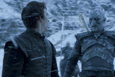 Vladimir Furdik as the Night's King White Walker touches Bran Stark in one of his visions
