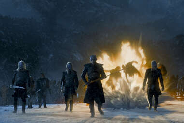 The White Walkers attack the Three-Eyed Raven's tree