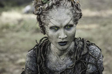 Kae Alexander plays Leaf, one of the Children of the Forest who help Bran and Meera