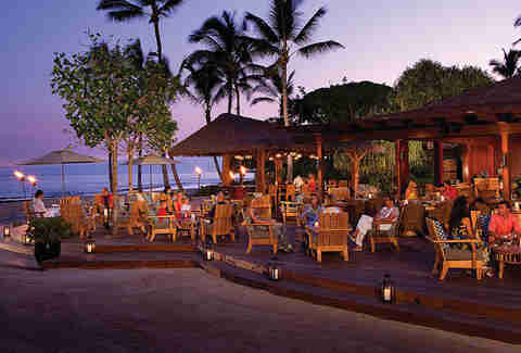 The Patio at the Four Seasons Resort Hualalai