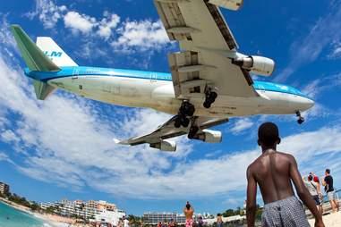 Caribbean airplane