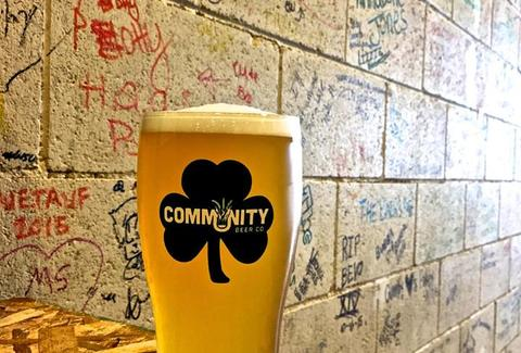 pint at community beer co.