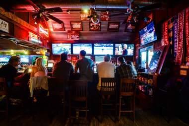 The bar at The Tavern in Austin