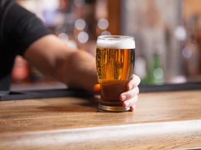 beer at a bar